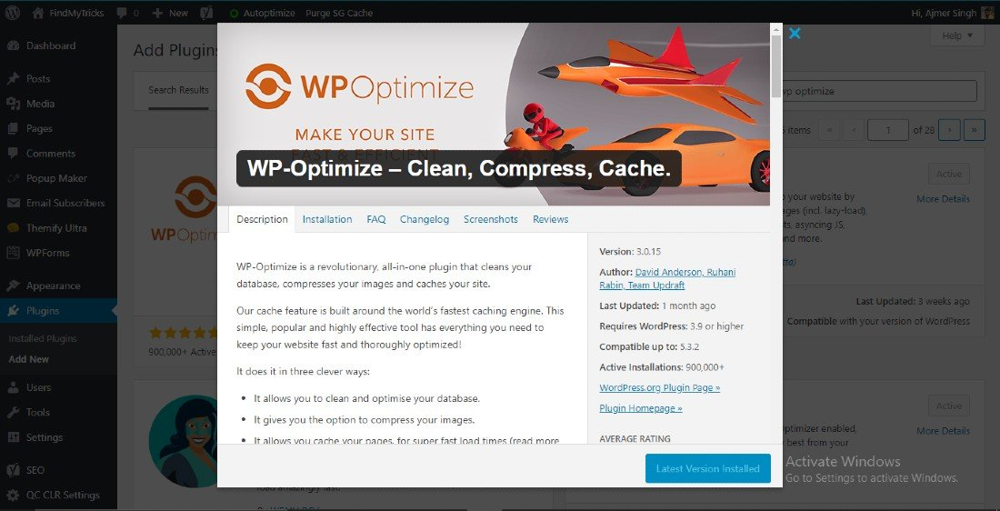 WP Optimize Best Settings Configuration For WordPress(2020)