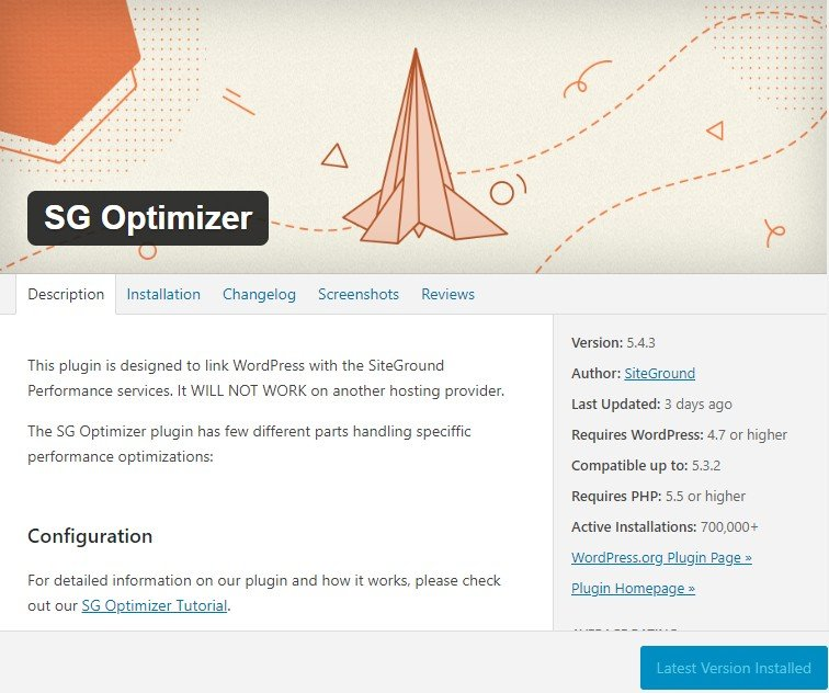 SG optimizer best settings